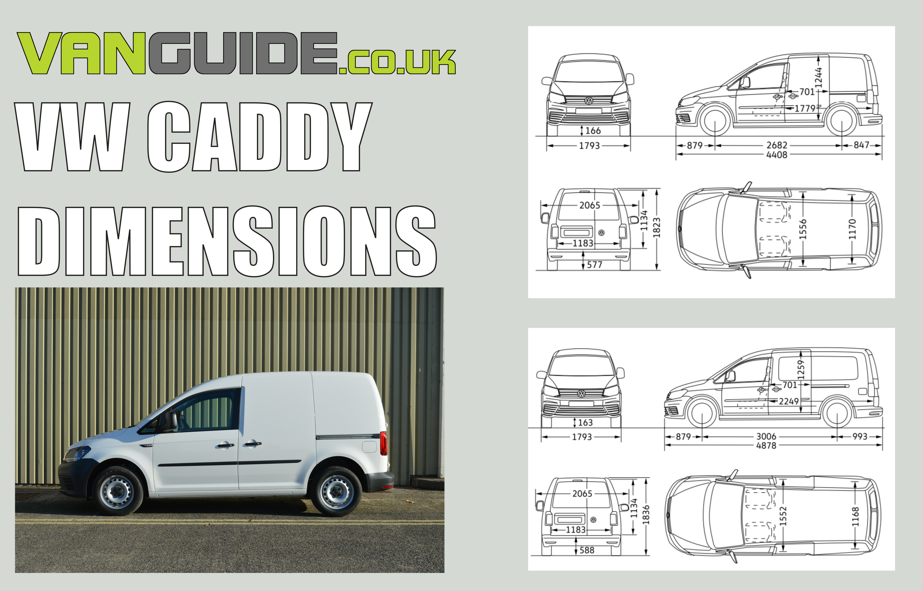 Vw Caddy Dimensions Guide Vanguide Co Uk The Van Experts